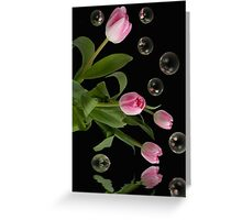 Floating Mirrors Greeting Card