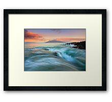 Folding the Sea Framed Print