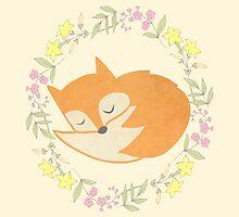 Sleepy Little Fox / Sleeping Fox by TurtlesSoup