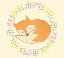 Sleepy Little Fox / Sleeping Fox by TurtlesSoup