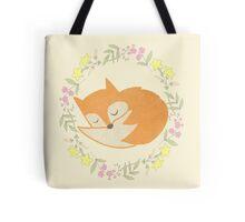 Sleepy Little Fox / Sleeping Fox Tote Bag