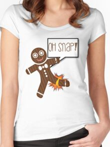 Oh Snap Funny Holiday Christmas or Thanksgiving Women's Fitted Scoop T-Shirt