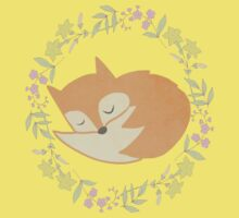 Sleepy Little Fox / Sleeping Fox One Piece - Short Sleeve