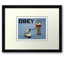 """'Obey' from the series """"Fast Food Turf War"""" by Tim Constable  Framed Print"""