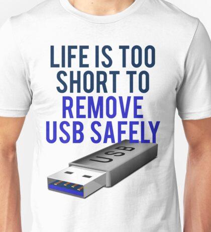 Remove USB Safely Unisex T-Shirt