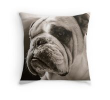 In deep thoughts with slobber bubble Throw Pillow