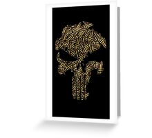 Lead Lined Skull: Punisher Greeting Card