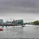 Ships, Ferries, and Museums on a Grey Day by Larry Lingard-Davis