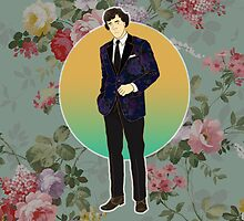 Floral Suited Sherlock  by Jessica Wilson