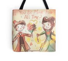 Doctor Who Valentine - Be Mine For All Time Tote Bag