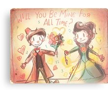 Doctor Who Valentine - Be Mine For All Time Metal Print