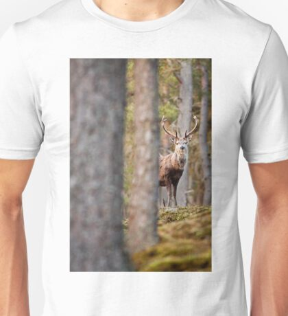 Red Deer Stag in Trees (Vertical) Unisex T-Shirt