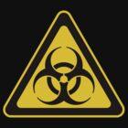 Biohazard Symbol Warning Sign - Yellow & Black - Triangular by graphix
