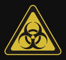 Biohazard Symbol Warning Sign - Yellow & Black - Triangular by graphix