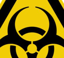 Biohazard Symbol Warning Sign - Yellow & Black - Triangular Sticker