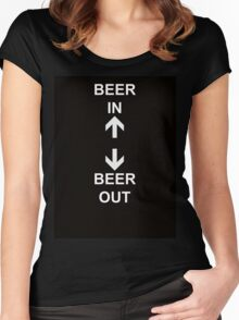 Beer In Beer Out Women's Fitted Scoop T-Shirt
