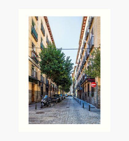 Amnesty street in Madrid Art Print