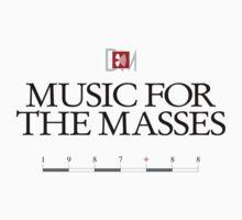 Depeche Mode : Music For The Masses Logo 3 Black by Luc Lambert