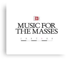 Depeche Mode : Music For The Masses Logo 3 Black Canvas Print