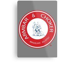 Armbar & Choker BJJ Metal Print