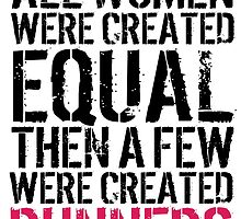 Excellent 'All Women were created equal then a few were created Runners' Tshirt, Hoodies, Accessories and Gifts by Albany Retro