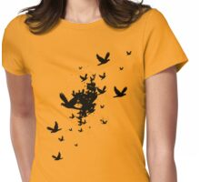 Birds For Sarah Womens Fitted T-Shirt