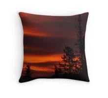 Summer Solstice's Fire Sky Throw Pillow