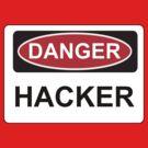 Danger Hacker - Warning Sign by graphix