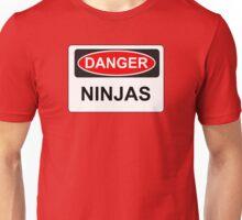 Danger Ninjas - Warning Sign Unisex T-Shirt