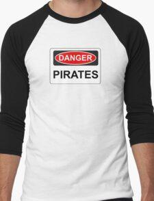 Danger Pirates - Warning Sign Men's Baseball ¾ T-Shirt