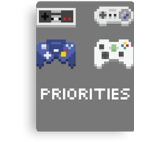 Priorities Canvas Print