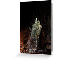 Insinde the Cave - Batu Caves, Malaysia. Greeting Card