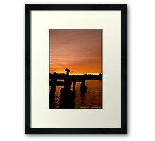 Orange Coloured Sky Framed Print