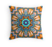 Decorative Sunshine Kaleidoscope Flower Throw Pillow