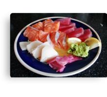 Plate of sashimi Canvas Print