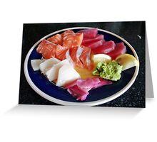 Plate of sashimi Greeting Card