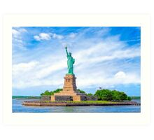 Liberty Island - Statue Of Liberty - New York City Art Print