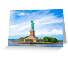 Liberty Island - Statue Of Liberty - New York City Greeting Card