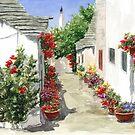Flowers of Alberobello by Jeno Futo