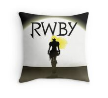 Yellow Trailer Throw Pillow