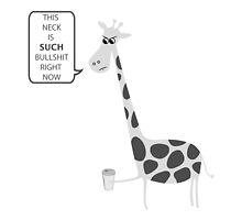 The Struggle Of A Giraffe by strangebird2014