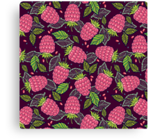 Juicy raspberries. Canvas Print