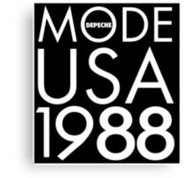 Depeche Mode : USA 1988 - Black Canvas Print