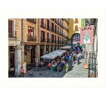 Toledo street in Madrid Art Print