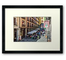 Toledo street in Madrid Framed Print