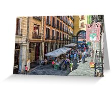 Toledo street in Madrid Greeting Card