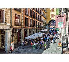 Toledo street in Madrid Photographic Print