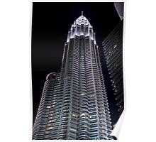 Silver Glow at Night II - Kuala Lumpur, Malaysia. Poster