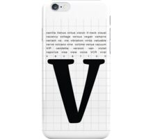Art Print - Words with Letter V - Words and Letters - Typography iPhone Case/Skin