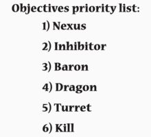 Objectives priority list - League of Legends by GhostMind
